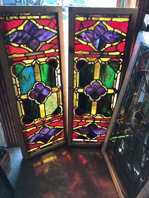 SG 20305.2 AV price each antique dark Gothic transom window 18.5 x 49