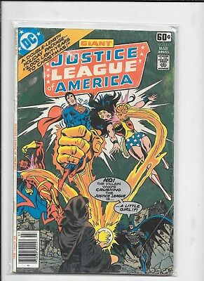JUSTICE LEAGUE of AMERICA  #152 GIANT DC COMIC BOOK FREE SHIPPING  1978