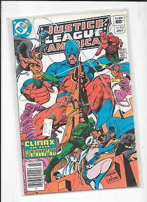 JUSTICE LEAGUE of AMERICA  #216  DC COMIC BOOK FREE SHIPPING  1983