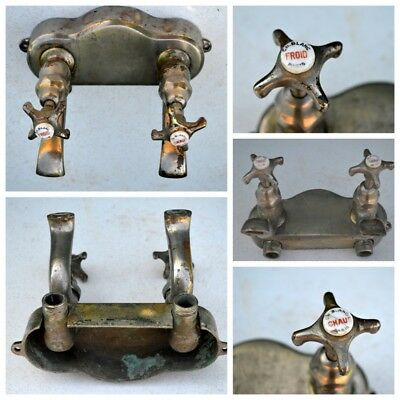 french antique chrome brass TAPS IDEAL BELFAST SINK  REFURBISHED farmhouse