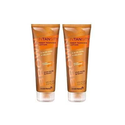 2x Tannymaxx Brown Fruity Intansity Deep Tanning Lotion 125 ml NEU OVP