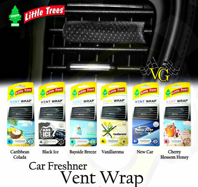 Little Tree Hanging Tree OR Vent Wrap. Vent Wrap has 4 pieces per PACK Black Ice