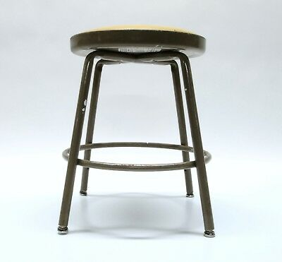 "Krueger Industrial Metal Stool Green Bay, Wis. 18 "" Tall Workshop Seat Steampunk"