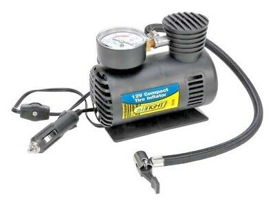 Air Tight 12 Volt Compact Tire Inflator New With Easy To Read Gauge
