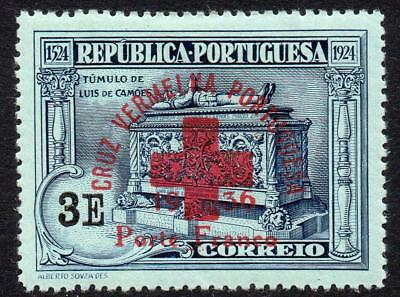 Portugal 3E Red Cross Stamp c1936 (Aug) Mounted Mint