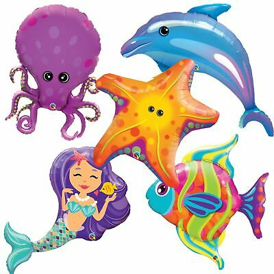 Giant Under The Sea Foil Balloons Mermaid Birthday Party Decorations Helium
