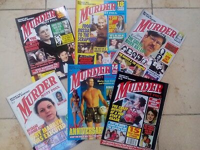 Murder most foul magazines - True crime Set of 6