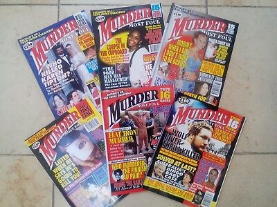 Murder most foul magazines - True crime Set of 6 numbers 57,58,59,60,61, 62