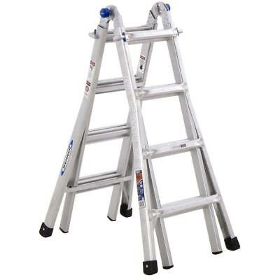 Werner MT-17 Ladder Aluminum 300-lb Telescoping Type 1A Multi-Position 18' Reach