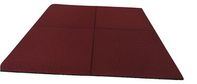 Red Rubber Safety Floor Tiles - Playground Flooring - Square Shape Mats