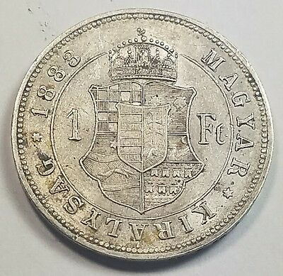 1883 Hungary 1 Forint Silver