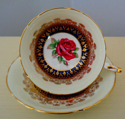 Paragon Large Red Rose Teacup And Saucer