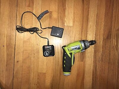 Ryobi 4V Cordless Electric Screwdriver W/Charger, WORKS PERFECTLY