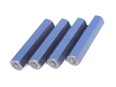 Spacer Rod Steel Magnetic 17mm hexagonal , 84mm, threaded M8 x 1.25 (Lot of4pcs)