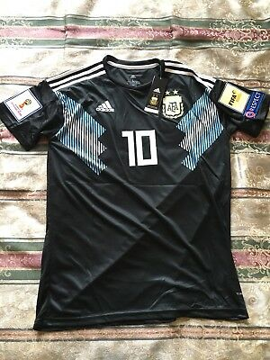 info for dc2d6 3de73 ADIDAS ARGENTINA JERSEY 2018 World Cup Lionel Messi With Tags and Patches