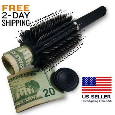 Hidden Container Safe Can Stash It Jewelry Home Hair Brush Secret Diversion, New