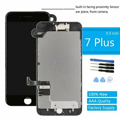 Black LCD Replacement Screen 3D Touch Digitizer Asembly for iPhone 7 Plus 5.5""