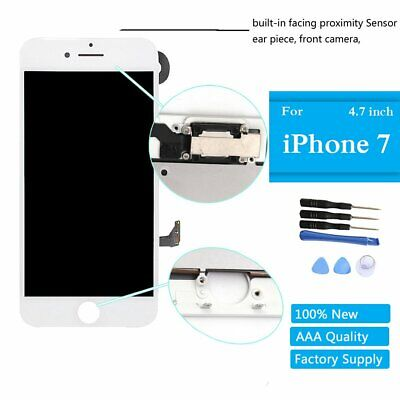 "White LCD Replacement Screen 3D Touch Digitizer Asembly for iPhone 7 4.7"" Camera"