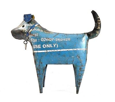 Recycled Metal Dog Sculpture