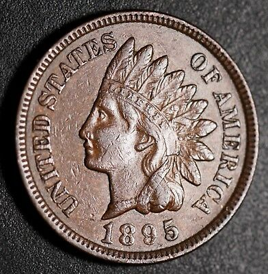 1895 INDIAN HEAD CENT -With LIBERTY & DIAMONDS - XF EF