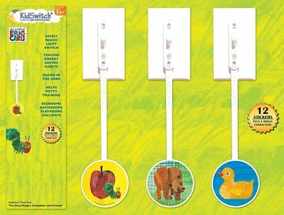 NEW - KidSwitch Light Switch Extender 3 Pack - The World of Eric Carle Edition