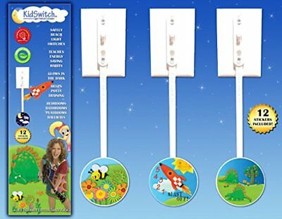 NEW - KidSwitch Light Switch Extender 3 Pack - Laurie Berkner Edition