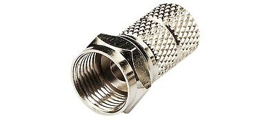 STV19F F connector twist on for RG6 and 100 type cable, bulk pack