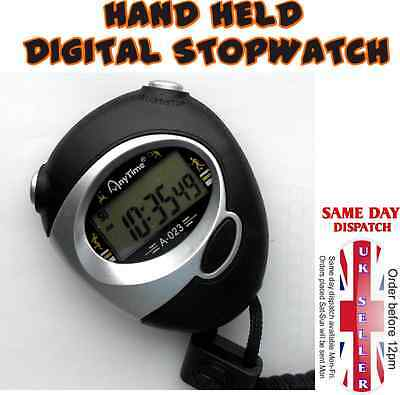 Stopwatch Double Count Time Clock Alarm Timer Mode Digital Handheld Sports
