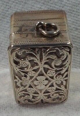 Antique Georgian English Sterling Silver Nutmeg Grater - Nathaniel Mills - 1826