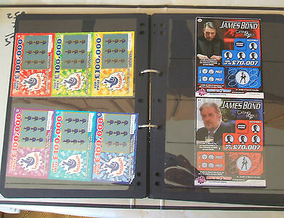 337 MINT Condition UK Lottery Scratchcards. ALL UNSCRATCHED