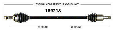 CV Axle Shaft-New Front Right WorldParts 189218