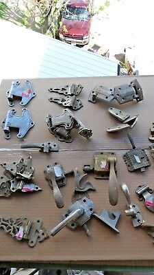 27 piece latches hinges Old Ice Box  Icebox Cooler Hardware Art Deco Antique VTG