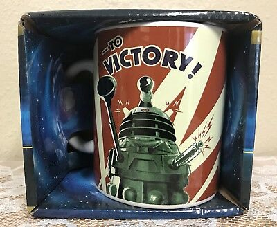 NIB Doctor Who Dalek To Victory 11 oz. collectible Ceramic Mug by Culturenik