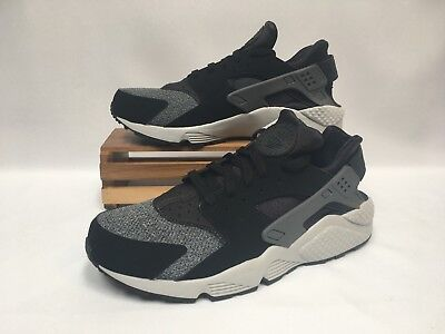 best sneakers 64e70 dfecb Nike Air Huarache Running Shoes Black Anthracite Gray White 318429-039 Men s  NEW