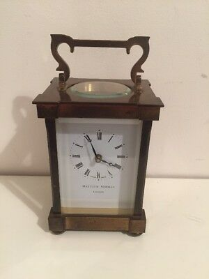 MATTHEW NORMAN  BRASS CARRIAGE CLOCK, SWISS MADE, No.1754