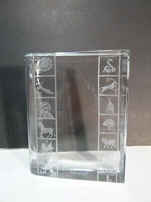 "Rare *VINTAGE* Baccarat Crystal BOOK Paperweight 4"" Made in FRANCE"