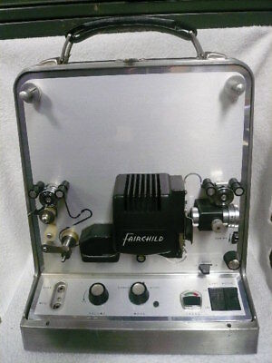 """Vintage Fairchild Cinephonic """"8"""" Eight HLH-1 8-MM Sound Projector / Recorder"""