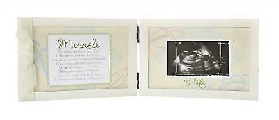Unisex MIRACLE BABY SONOGRAM FRAME ~ Beautiful! ~ Baby Sonogram Picture Frame
