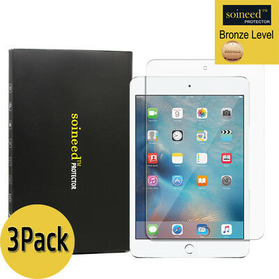 [3-Pack] SOINEED Tempered Glass Screen Protector Saver For Apple iPad Mini 1,2,3