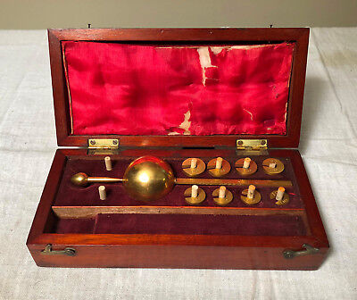 Antique Sykes Hydrometer in Case English Make