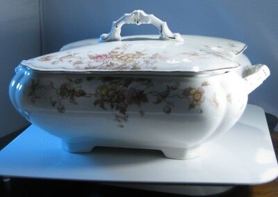 Henry Alcock Semi Porcelain Soup Tureen with cover England