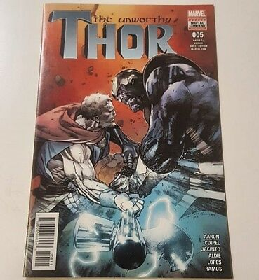 The Unworthy Thor #5   Thanos Kisses Hela in this issue  VF/NM