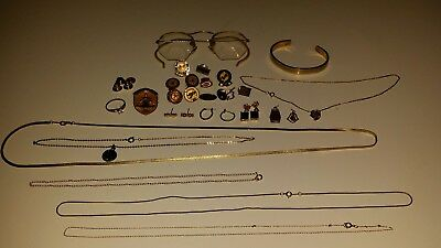 Lot of vintage and Antique Gold FIlled Jewelry and glasses, pins  Scrap/Use 112g