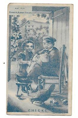 Fearey's Albany Shoes Victorian Trade Card S. R. Ross,brooklyn,e. D.