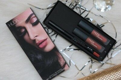 HUDA BEAUTY Cosmetics Lip Contour Set TRENDSETTER AND BOMBSHELL KIT BEST COLOR