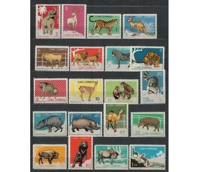 CUBA 1964 Animali dello zoo -  Zoo animals 20 v