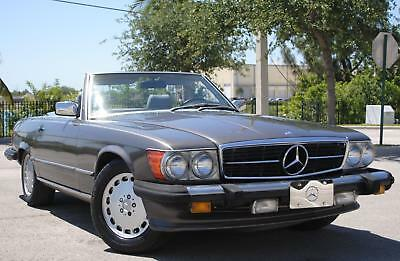 1986 Mercedes-Benz SL-Class 560SL 1986 MERCEDES 560SL ROADSTER, 5.6L V8, AUT TRANS, RWD, NO ACCIDENTS, NO RESERVE.