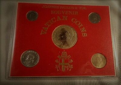 Vatican Souvenir 5 coin set in original holder