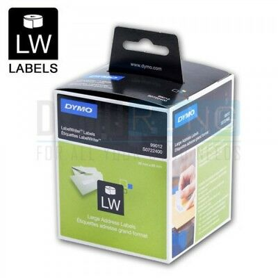 2 x Dymo SD99012 / S0722400 Labelwriter Large Address Paper Labels 36mm x 89mm