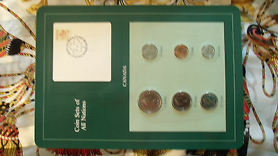 Coin Sets of All Nations Canada Cartier w/ Card all 1984 UNC